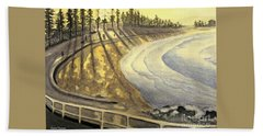 Manly Beach Sunset Hand Towel