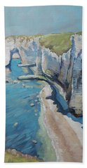 Manneport, The Cliffs At Etretat Hand Towel