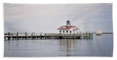Manteo Lighthouse Bath Towel