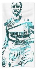 Manu Ginobili Argentina Pixel Art Hand Towel