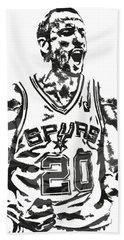 Manu Ginobili San Antonio Spurs Pixel Art 4 Hand Towel