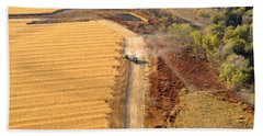 Many Acres To Harvest Hand Towel