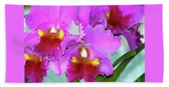 Many Purple Orchids Hand Towel