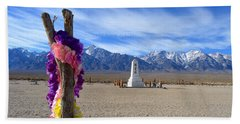 Manzanar Hand Towel by Nature Macabre Photography