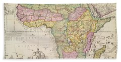 Map Of Africa Hand Towel