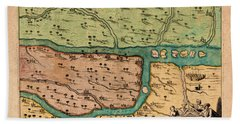Map Of Iraq 1680 Hand Towel by Andrew Fare