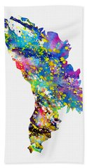 Map Of Moldova-colorful Hand Towel