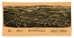 Map Of Rhinebeck 1890 Hand Towel