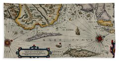 Map Of Sweden 1606 Hand Towel by Andrew Fare