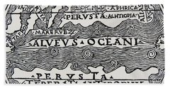Map Of The Extent Of The Known World In Greek Times Hand Towel