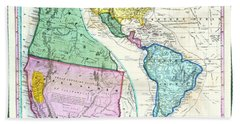 Map Of The Gold Regions Of California Bath Towel
