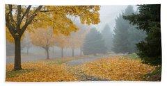Maple Leaf Path Hand Towel