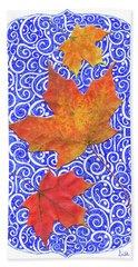 Maple Leaves Bath Towel
