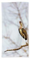 Marabou Stork In South Africa Bath Towel