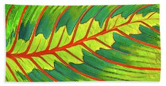 Maranta Red 2 Bath Towel