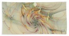 Marble Spiral Colors Hand Towel by Deborah Benoit