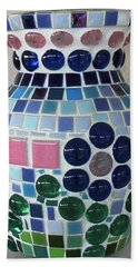 Hand Towel featuring the glass art Marble Vase by Jamie Frier