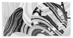 Marbled Music Art - French Horn - Sharon Cummings Hand Towel by Sharon Cummings