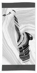 Marbled Music Art - Saxophone - Sharon Cummings Hand Towel