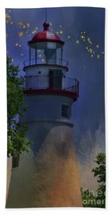 Bath Towel featuring the photograph Marblehead In Starlight by Joan Bertucci