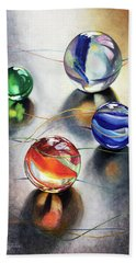 Marbles 3 Hand Towel