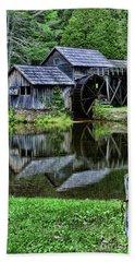 Marby Mill Reflection Bath Towel by Paul Ward