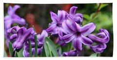 March Hyacinths Bath Towel by Katie Wing Vigil