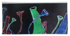 March Of The Wine Brigade Hand Towel by Sharyn Winters