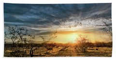 Hand Towel featuring the photograph March Sunrise by Lynn Geoffroy