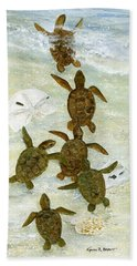 March To The Sea Hand Towel