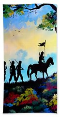 Marching At Daybreak Hand Towel