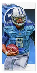 Marcus Mariota Tennessee Titans Oil Art Hand Towel