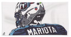 Marcus Mariota Titans 2 Hand Towel by Jeremiah Colley