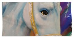 Mardi Gras Horse Hand Towel by Julianne Ososke
