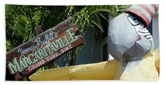Hand Towel featuring the photograph Margaritaville Sign Turks And Caicos by Melinda Saminski