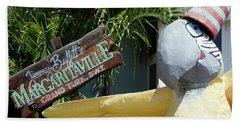 Bath Towel featuring the photograph Margaritaville Sign Turks And Caicos by Melinda Saminski