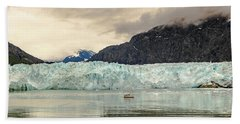 Bath Towel featuring the photograph Margerie Glacier by Ed Clark