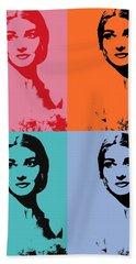 Maria Callas Pop Art Panels Bath Towel