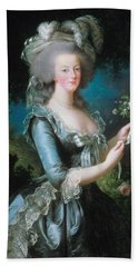 Marie-antoinette With The Rose Bath Towel