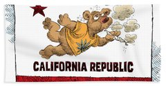 Marijuana Referendum In California Hand Towel
