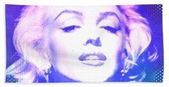 Marilyn Disco Retro Bath Towel by Kim Gauge