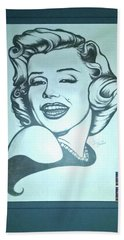 Marilyn Monroe By Jackie Shearer Hand Towel