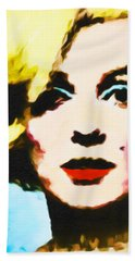 Bath Towel featuring the painting Marilyn Monroe by Joan Reese