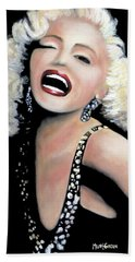 Marilyn Monroe Bath Towel by Marti Green