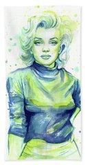 Marilyn Monroe Hand Towel by Olga Shvartsur