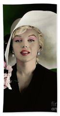 Marilyn Monroe Hand Towel by Paul Tagliamonte