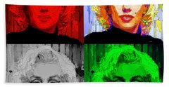 Marilyn Monroe - Quad. Pop Art Bath Towel