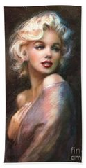 Marilyn Romantic Ww 1 Hand Towel by Theo Danella