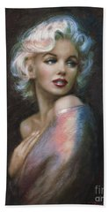 Marilyn Romantic Ww 4 Blue Hand Towel