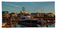 Marina At Sunset Hand Towel